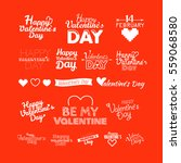 happy valentines day greeting... | Shutterstock .eps vector #559068580