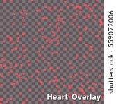 same sized heart shapes... | Shutterstock .eps vector #559072006