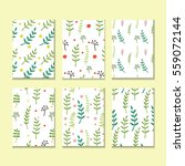set of floral hand drawn... | Shutterstock .eps vector #559072144