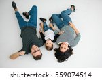young hipster father  mother... | Shutterstock . vector #559074514