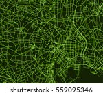 green  scheme of the tokyo ... | Shutterstock .eps vector #559095346