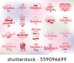 happy valentines day typography ... | Shutterstock .eps vector #559096699
