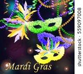 vector illustration. mardi gras ... | Shutterstock .eps vector #559097008