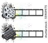 film strip movie theme element | Shutterstock .eps vector #55909975