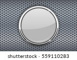 white glass button with chrome... | Shutterstock .eps vector #559110283