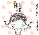 cute girl illustration.for... | Shutterstock .eps vector #559115074