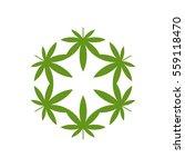 green marijuana leaf logo... | Shutterstock .eps vector #559118470