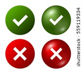 tick and cross signs. green... | Shutterstock .eps vector #559119334