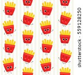 french fries  vector seamless... | Shutterstock .eps vector #559128250