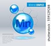 mineral mn manganum blue... | Shutterstock .eps vector #559129288