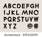 vector black handwritten... | Shutterstock .eps vector #559142059