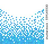 blue and white pixel background....   Shutterstock .eps vector #559145530