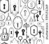 seamless pattern. vector set of ... | Shutterstock .eps vector #559151269
