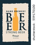 vector label for beer with a... | Shutterstock .eps vector #559170100
