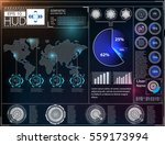 futuristic user interface. hud... | Shutterstock .eps vector #559173994