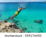 knip beach  curacao views a...   Shutterstock . vector #559174450