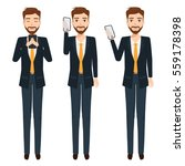 business man talking a mobile... | Shutterstock .eps vector #559178398