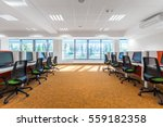 spacious it classroom with... | Shutterstock . vector #559182358
