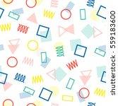 retro memphis geometric line... | Shutterstock .eps vector #559183600