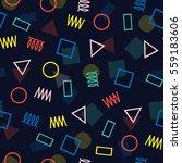 retro memphis geometric line... | Shutterstock .eps vector #559183606