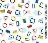 retro memphis geometric line...   Shutterstock .eps vector #559183630