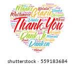 thank you love heart word cloud ... | Shutterstock .eps vector #559183684