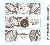 banner set for cocoa shop.... | Shutterstock .eps vector #559185043