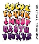 bright cartoon comic graffiti...   Shutterstock .eps vector #559185406