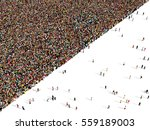 Large And Diverse Crowd Of...