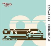 90's sports car rally banner ... | Shutterstock .eps vector #559194238