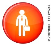 businessman standing with his... | Shutterstock . vector #559194268