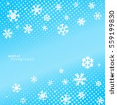 snowflakes on blue sky... | Shutterstock .eps vector #559199830