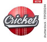 cricket sport label eith ball...   Shutterstock .eps vector #559200244