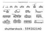lineart icon set with ground... | Shutterstock .eps vector #559202140