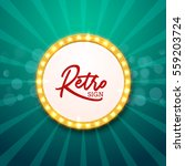 retro light frame illustration. ... | Shutterstock .eps vector #559203724