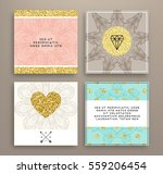 wedding invitation card or... | Shutterstock .eps vector #559206454
