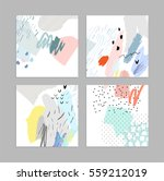 set of creative universal art... | Shutterstock .eps vector #559212019