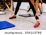 legs stretching close up.... | Shutterstock . vector #559213798