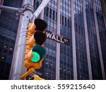 view on wall street yellow...   Shutterstock . vector #559215640