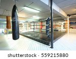 interior of a fitness hall with ... | Shutterstock . vector #559215880