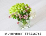 Clover Bouquet In Vase On The...