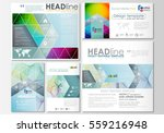 social media posts set.... | Shutterstock .eps vector #559216948
