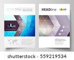 business templates for brochure ... | Shutterstock .eps vector #559219534