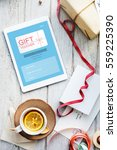 Small photo of Gift Voucher Promo Code Concept