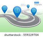 road infographic with blue... | Shutterstock .eps vector #559229704