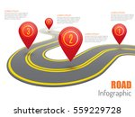 road infographic with red... | Shutterstock .eps vector #559229728
