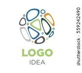 business logo idea made of... | Shutterstock .eps vector #559242490