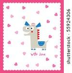 love horse | Shutterstock .eps vector #55924306
