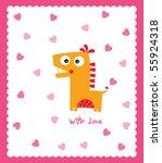 love dinosaur | Shutterstock .eps vector #55924318