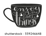 cute coffee or tea cup with... | Shutterstock .eps vector #559246648